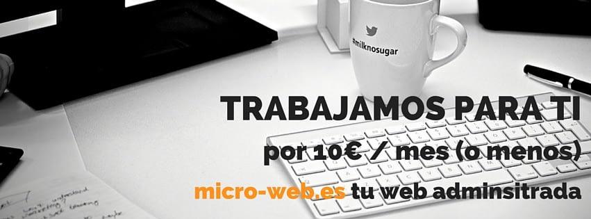 TRABAJAMOS PARA TI - WEBS ADMINISTRADAS