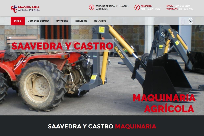 Portada de web Saavedra y Castro maquinaria